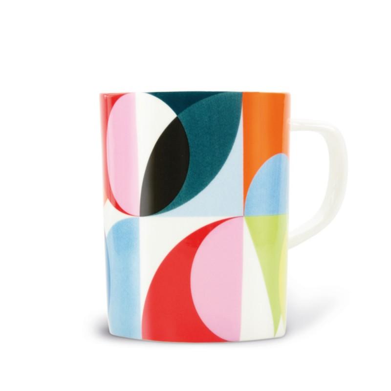 Mug Solena multicolore en porcelaine fine
